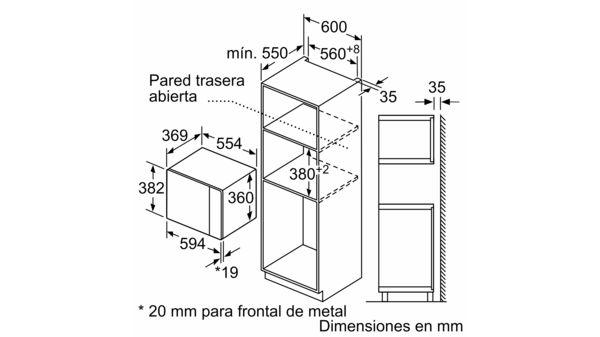 Microondas con grill Cristal blanco EAN: 4242005039043