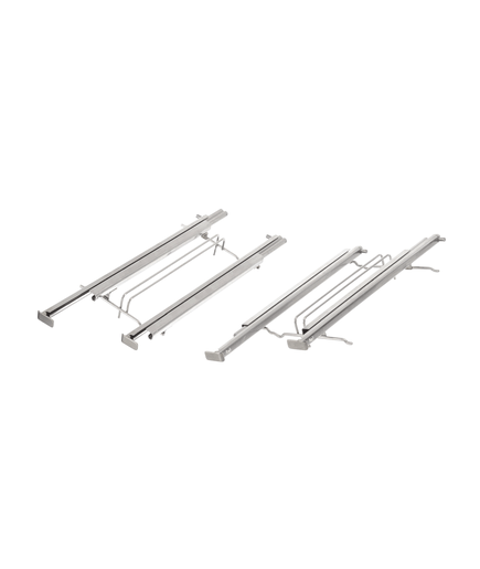 Telescoping extension rails 2-fold pull-out system set