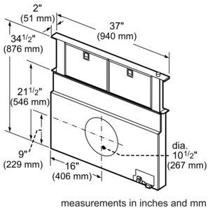 Masterpiece® Series 36 inch Downdraft UCVM36FS