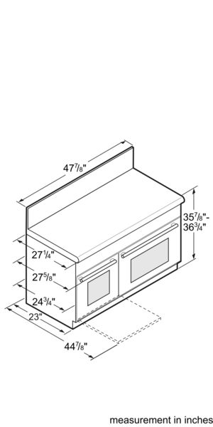Professional Series 48 inch Gas Standard-depth Range