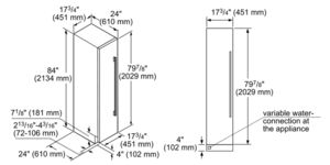 18 inch Built-In Freezer Column Model T18IF800SP