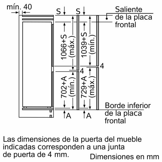 Frigorífico combinado integrable 177 x 56 cm EAN