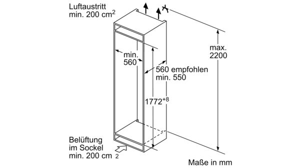 KG735A2 Integrierbare Kühl-Gefrierkombination KI6863F30