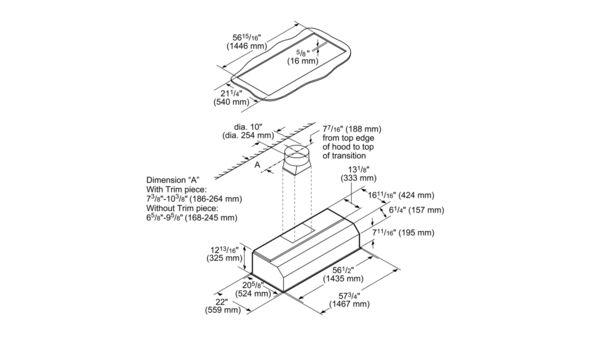 VCIN60GWS 60-inch Professional® Custom Insert, Optional