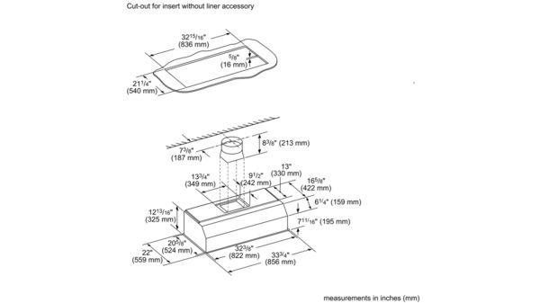 VCIN36GWS 36-inch Professional® Custom Insert, Optional