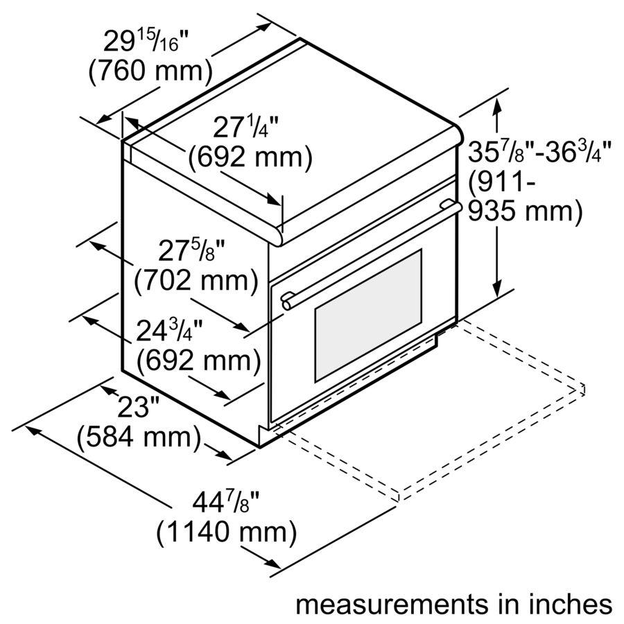 Professional Series 30 inch Gas Standard-depth Range