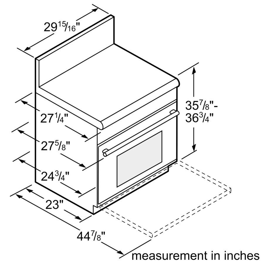 Professional Series 30 inch Dual-Fuel Standard-depth Range