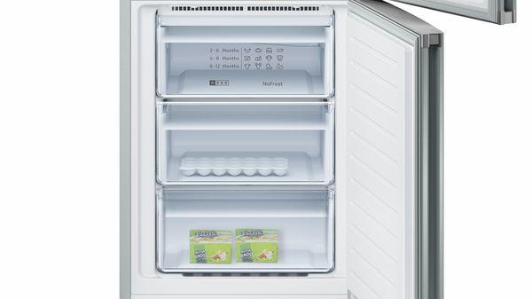 N 50 Combină frigorifică independentă 186 x 60 cm Inox-easyclean KG7362I30 KG7362I30-3
