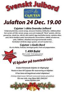 Svenskt julbord på Cajutan i Bangkok
