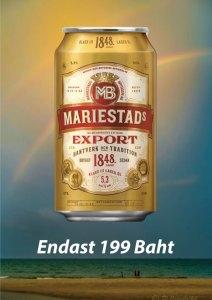 Svensk öl, Mariestad finns nu på Cajutan i Bangkok