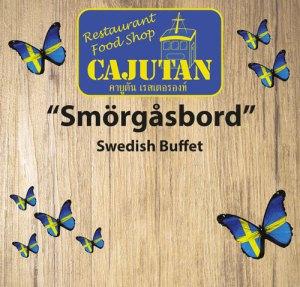 Swedish smörgåsbord, buffet at Cajutan in Bangkok