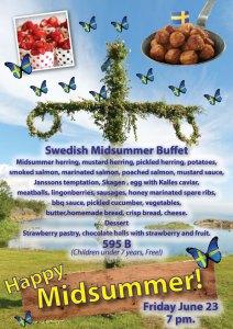 Midsommarfest med svenskt smörgåsbord på Cajutan i Bangkok