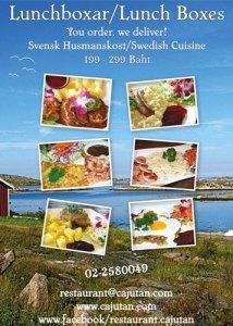 Order Swedish cuisine from Cajutan in Bangkok