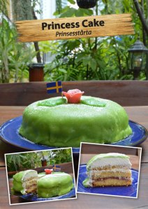 Swedish Princess cake at Cajutan in Bangkok