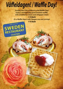 Celebrate Waffle Day at Cajutan in Bangkok