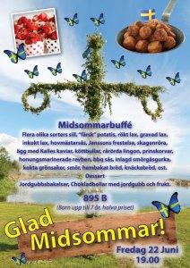 Midsommarfest på Cajutan med svensk mat.