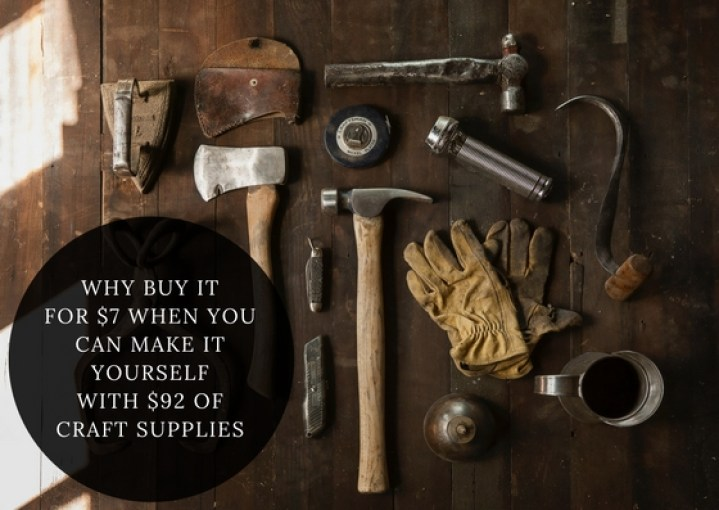 """""""Don't DIY"""" eller konsten att slösa resurser"""