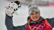 """""""Jetzt haben wir alle einen Grund zu feiern"""": Katharina Althaus."""