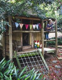 Love this little cubby house made from recycled crates By ...