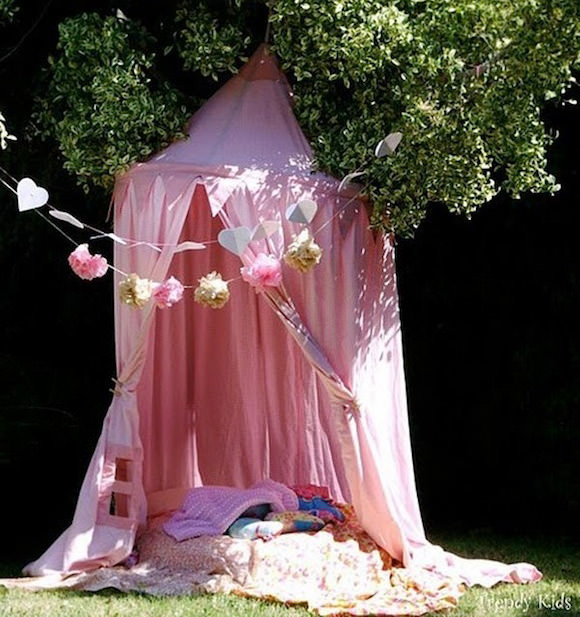 DIY Outdoor Reading Shade Tent for Kids
