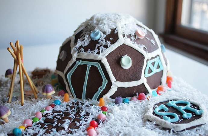 DIY Geodesic Gingerbread House
