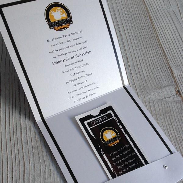 wedding invitation cinema ticket