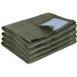 bache de protection bicolore vert fonce 195g m de remplacement pour abri en toile 18 60m habrita