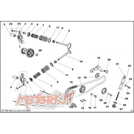 Valve Rocker shaft for Daytona 150 cc DTE engine price : 1