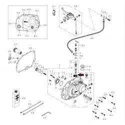 Manual clutch kit by wire KLX Takegawa