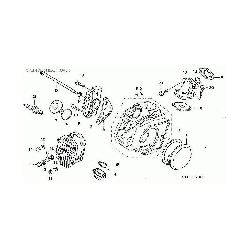 Cylinder Head Cover Parts List Honda Dax/Monkey 50cc