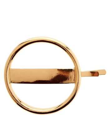 Barrette ronde dorée