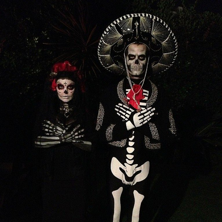 Josh Duhamel and his wife, Fergie, were barely recognizable in their Day of the Dead costumes.<br /><br /> Source: Instagram user joshduhamel<br /><br />