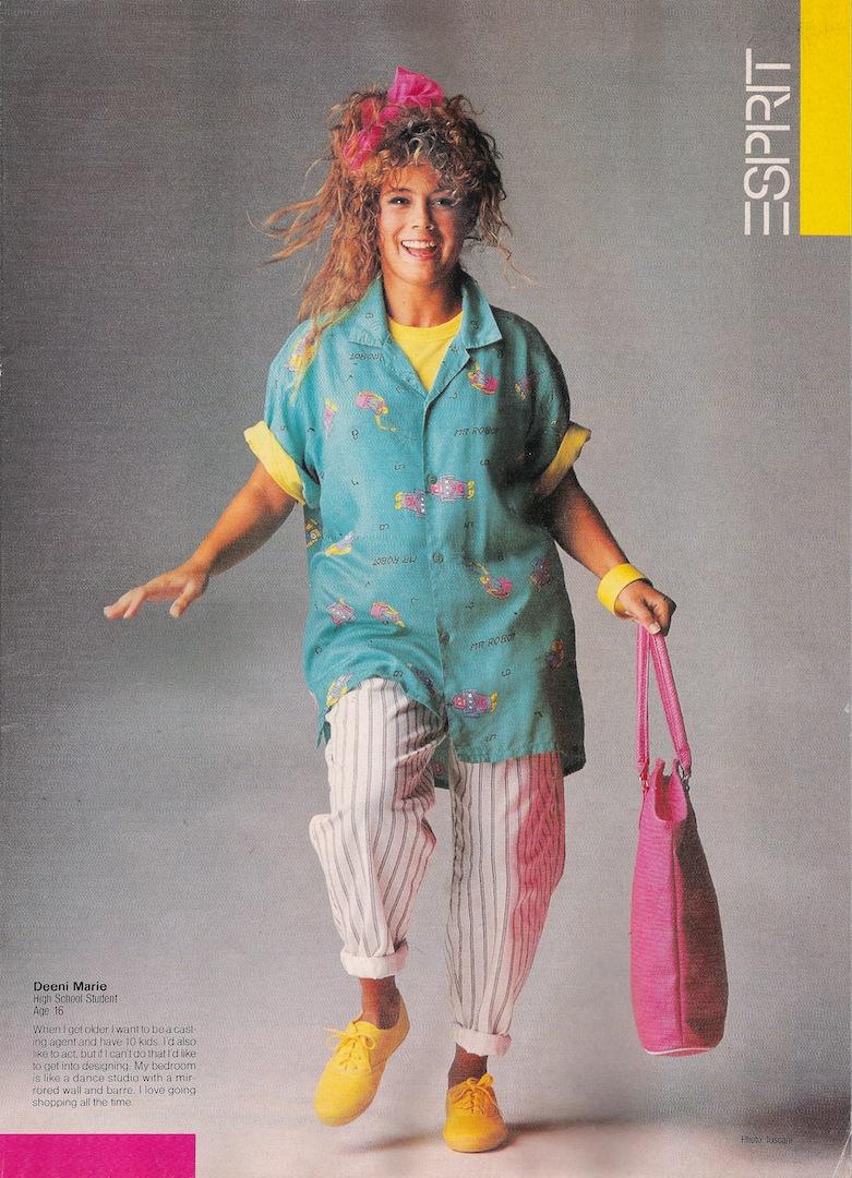 The life in the 90th Die Mode in den 90ern Kleidung Frisuren und Makeup