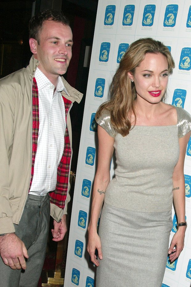 Angelina Jolie married her first husband, British actor Jonny Lee Miller, in March 1996 but ended the union in February 1999.<br /><br />