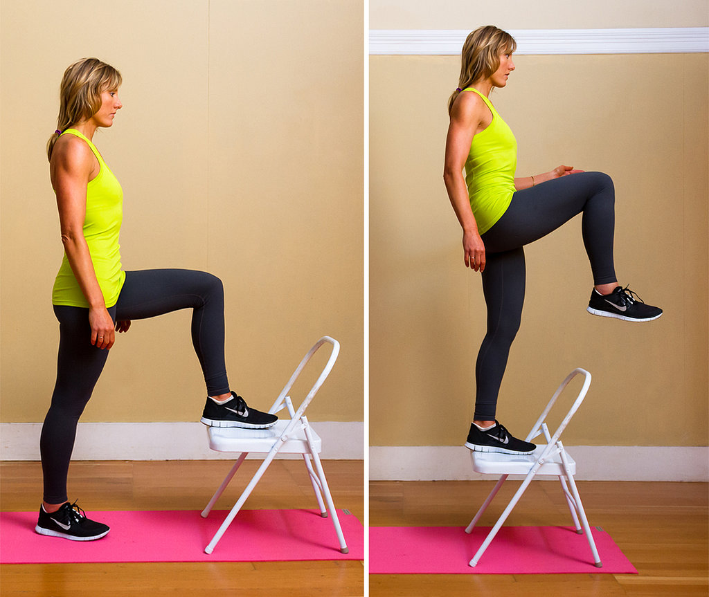 Chair Exercises For Obese 5 Chair Step Ups Burn Calories Blast Fat And Save
