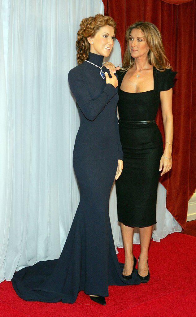 Celine Dion  Celebrities Come Face to Face With Their Wax Figures  POPSUGAR Celebrity UK