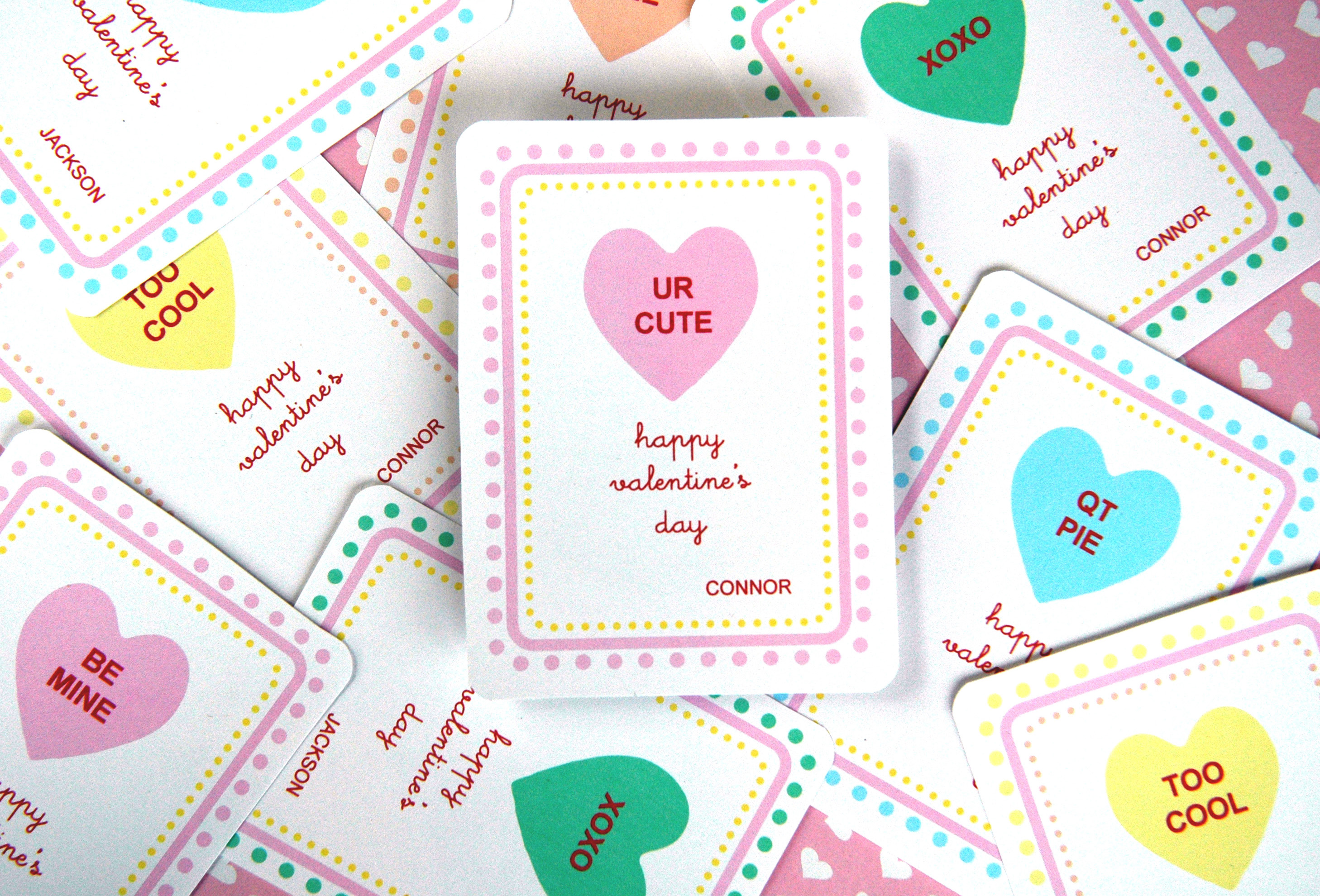 Candy Hearts Valentine S Printable