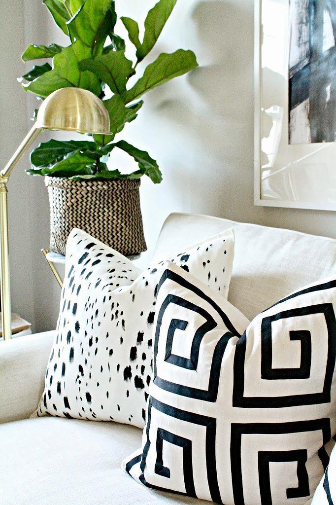 Painted Pillow DIY  POPSUGAR Home