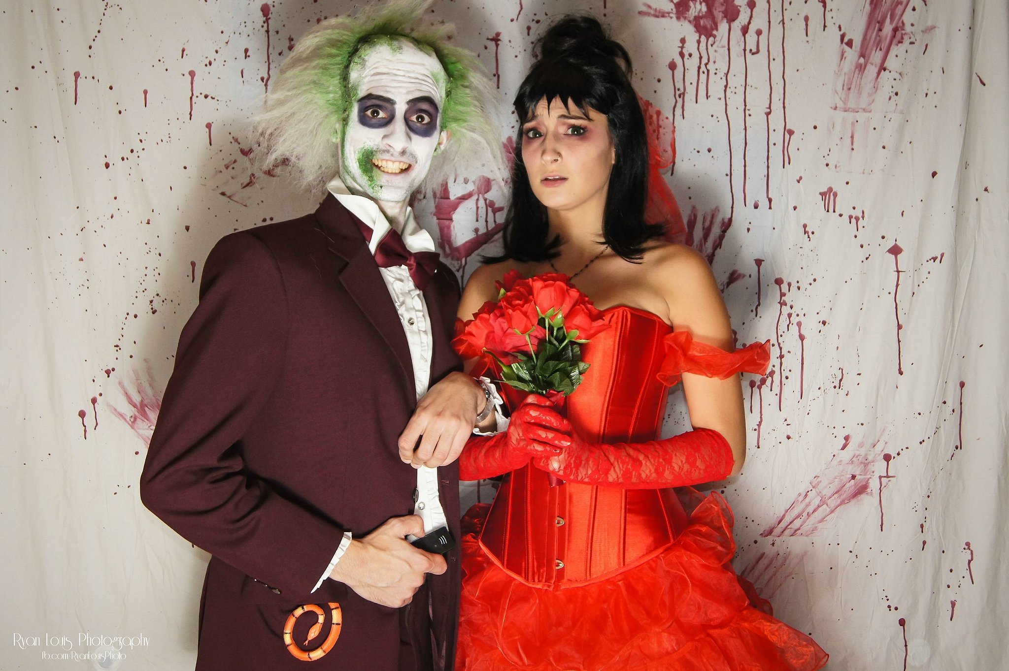 Beetlejuice and Lydia  Get Early Halloween Inspiration From These Real Pop Culture Costumes