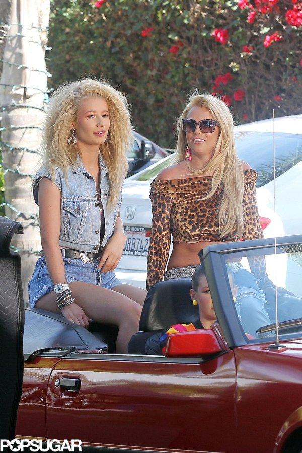 "Britney Spears And Iggy Azalea Filmed Music Video ""pretty 't- Celebrity Pics"