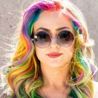 """Sand Art"" Color Is the Hottest New Trend in Rainbow Hair ..."