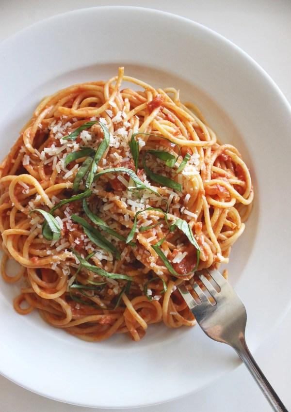 GreekYogurt Pasta Sauce POPSUGAR Fitness