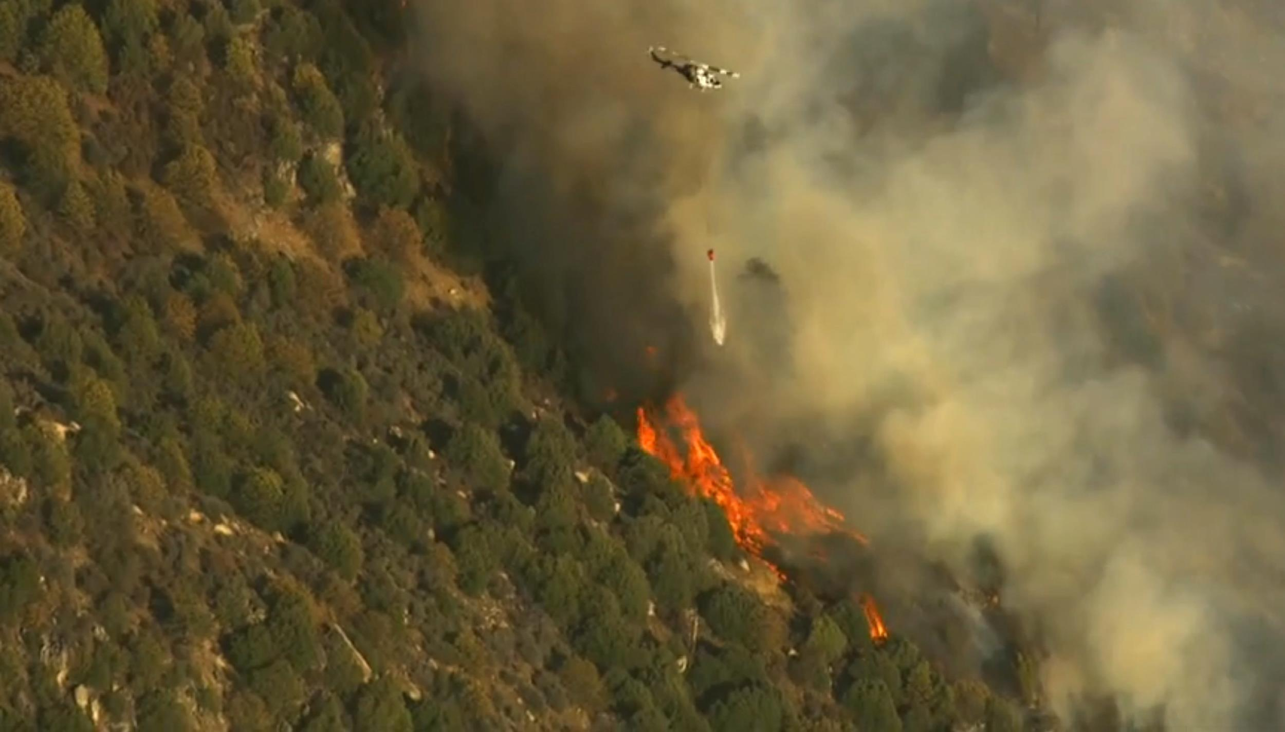 Dog Rock Fire Wildfire In Yosemite Rages Uncontained  Nbc