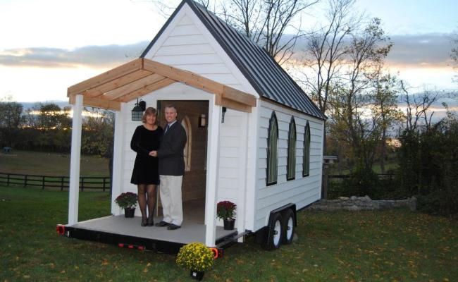 Wedding On Wheels This Micro Chapel Is Available For Your