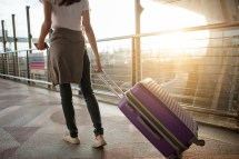 Girl Travelling Alone Airport
