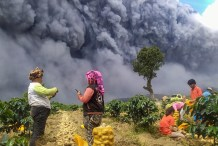 Indonesia's Mount Sinabung Erupts Twice in Three Days