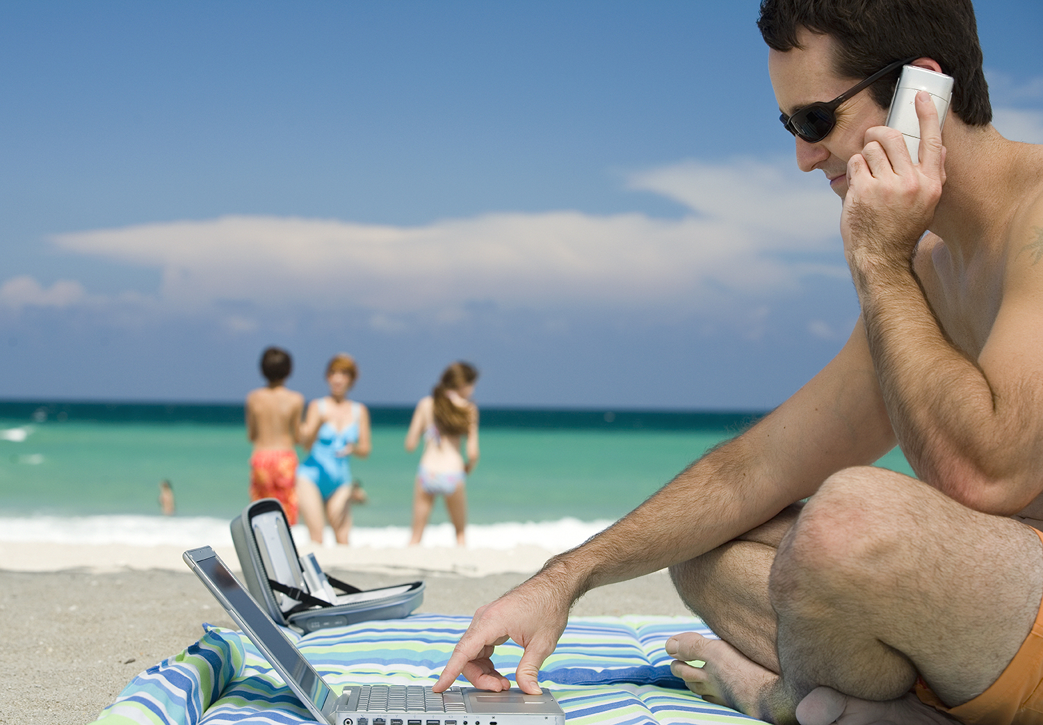 Image result for working while on vacation