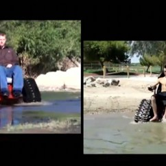 Tank Chair Wheelchair Folding Youtube Veteran Invents To Help His Paralyzed Wife
