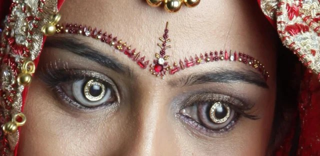 The new limited-edition contact lenses by Shekhar Eye Research feature 18 diamonds.