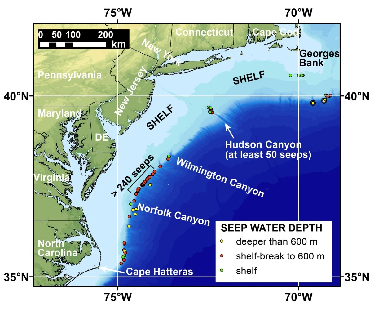Climate Methane Vents Bubble On Seafloor Off East